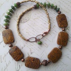 Jewelry - Gemstone & Czech Glass Necklace